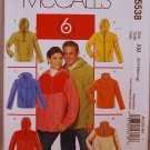McCall's 5538 M5538 pattern unisex fleece jackets with ipod pocket