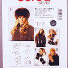 Burda Style sewing pattern 7476 accessories including hats, mittens, muff or hand warmer