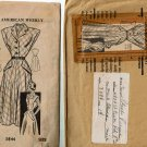 American Weekly Mail Order 3844 vintage 1940s sleeveless dress pattern