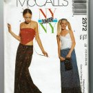 McCall's 2572 NY NY Junior sewing pattern for kercheif and wrap skirt