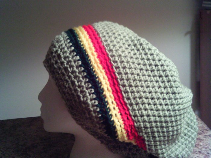 Rasta Crochet Large Hat	[!size:medium!]