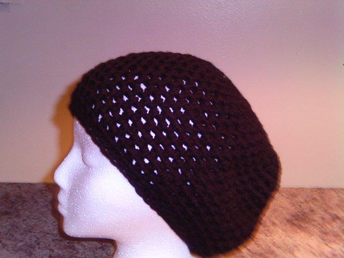 Crochet Medium Black Hat