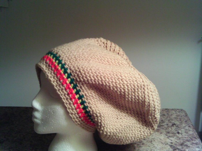 Rasta Crochet Large Hat