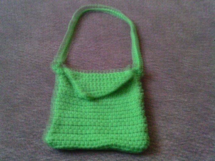 Crochet Small Lime Green handbag