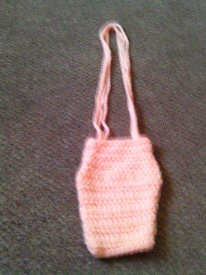 Crochet Small peach handbag