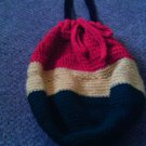 Crochet Medium Red,Yellow & Green handbag