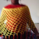 Crochet medium Beaded pancho