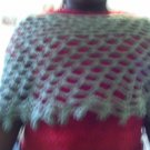 Crochet Medium green Pancho