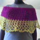 Crochet Medium Purple & Yellow Pancho