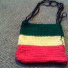 Crochet Small Red,Yellow & Green handbag