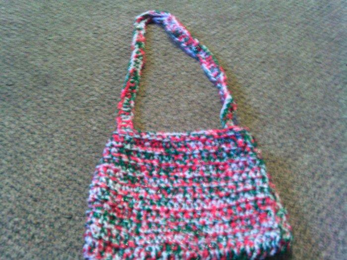 Crochet Small Christmas color handbag