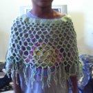 Crochet Medium  light green Pancho
