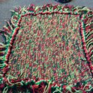 Crochet Medium Red,Yellow & Green Beaded Rug