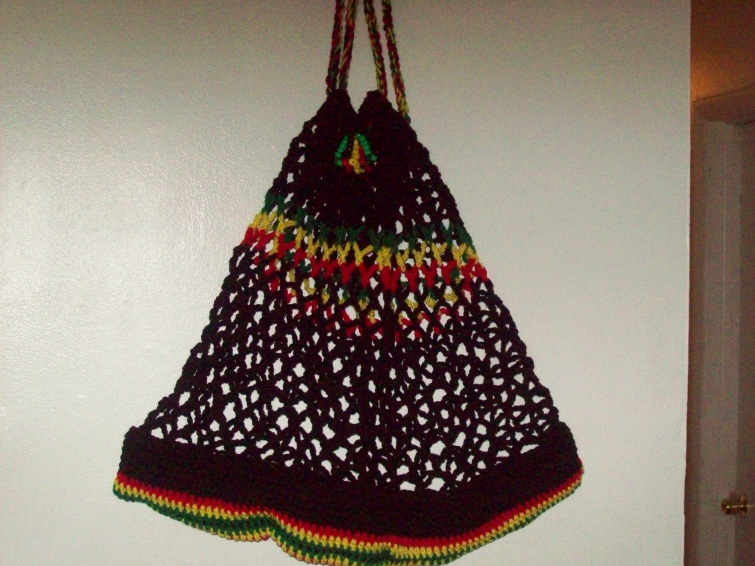 Black red, yellow & Green tote bag