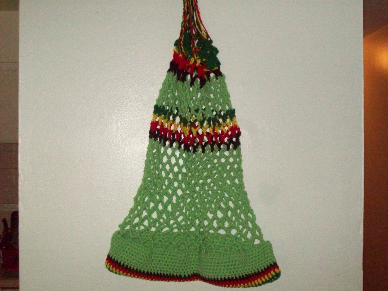 Lime green,red, yellow & Green tote bag