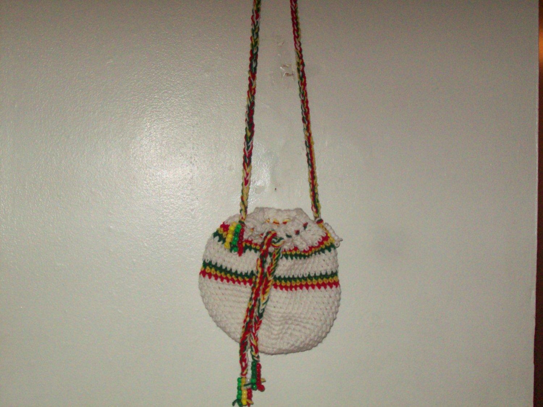 Medium White red, yellow & Green tote bag