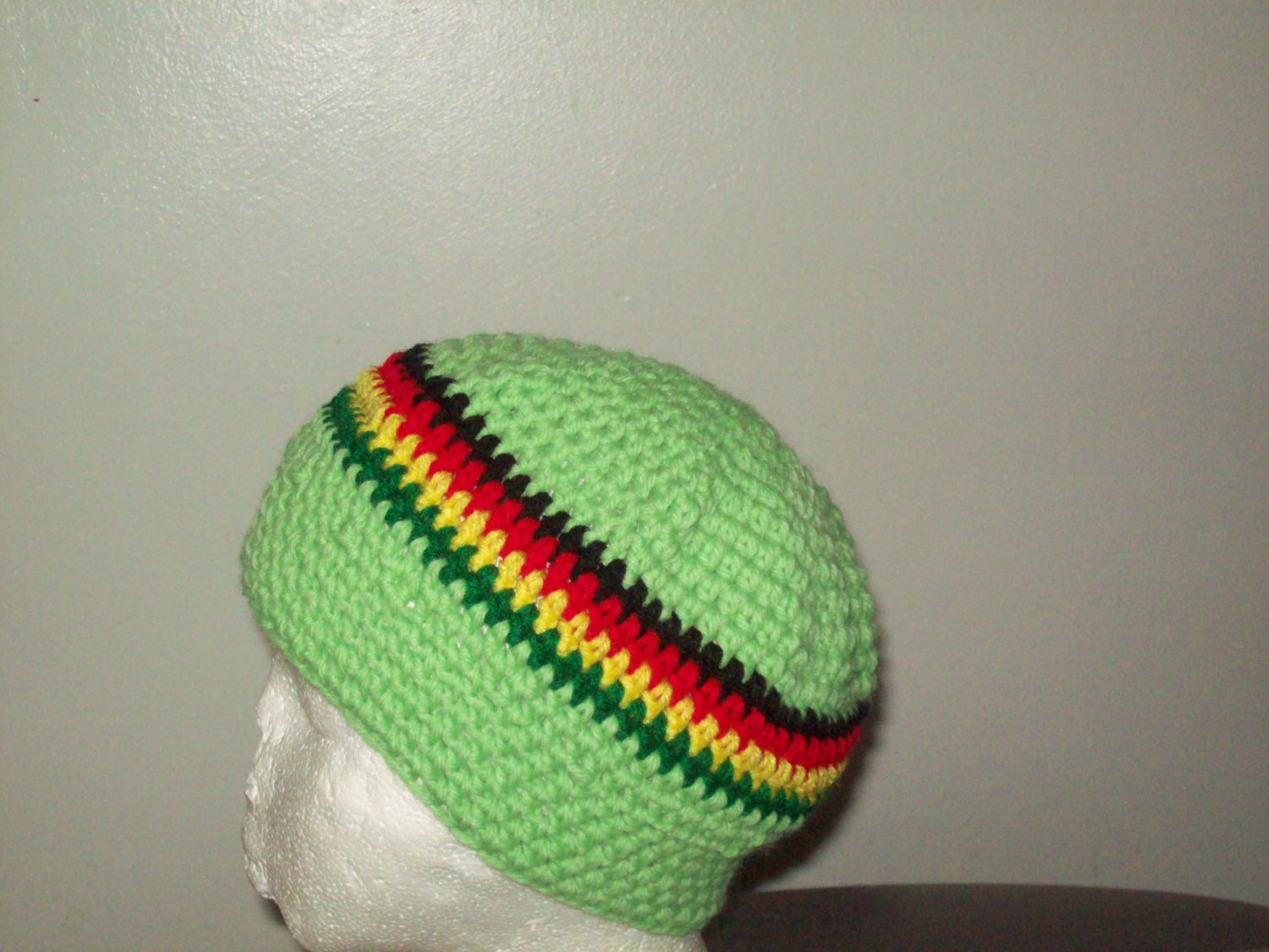 small Lime green, Yellow, red, yellow & Green Hat