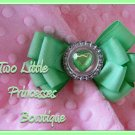 Minty Heart Bow