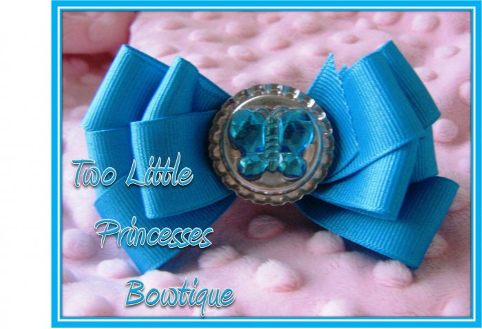 Island Blue Butterfly Bow
