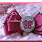 Rose Glitter Butterfly Bow
