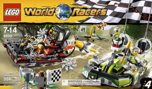 Lego World Racers 8899 Gator Swamp (354 pcs)