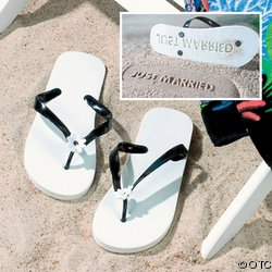 JUST MARRIED FLIP FLOPS IN-5/1051
