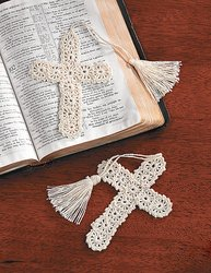 CROCHETED CROSS BOOKMARKS  IN-91/3797