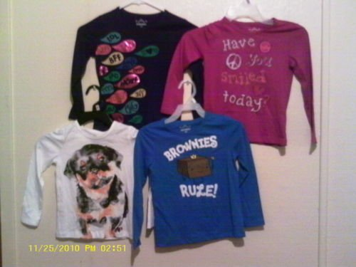4 Girl Sz x-small (like 6/7) Old Navy Shirt LS NWOT