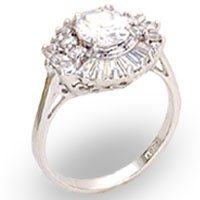 Clear Rosette CZ Ring Size 6