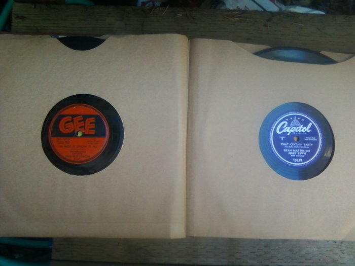10 OLD 78 LPS  10 INCH RECORDS  IN ALBUM BOOK
