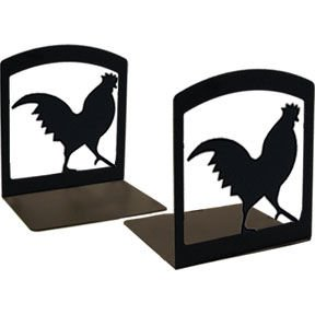 Rooster Book Ends