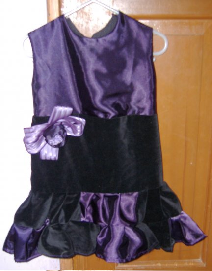 Black velvet and purple silk dress. sz 3