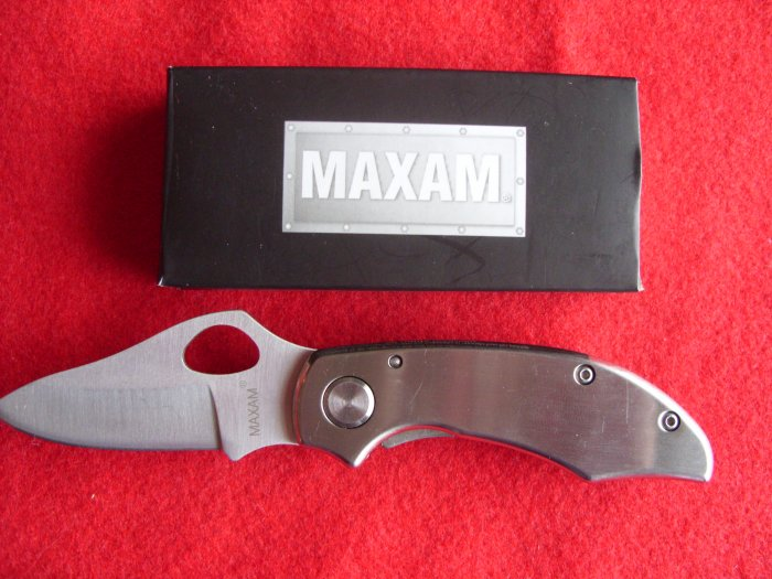 """6""""Polished All Stainless Steel Frame Lock Knife """"NEW"""""""