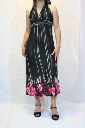 Sleeveless Stud & Floral pink Print Dress