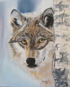 Cautious Original Oil Painting