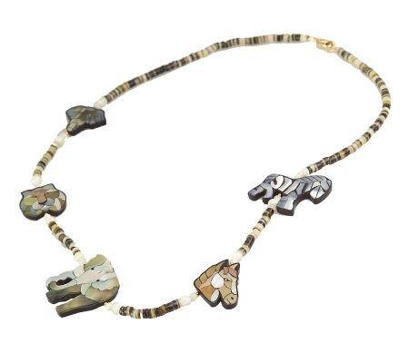 "Lee Sands Animal Safari Inlay 26"" Necklace"