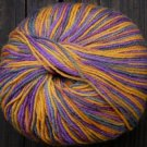 Pure wool yarn Fingering w violet gold ocher gray olive