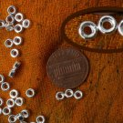 Sterling silver roundel beads, 4mm, 2 dozens
