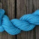 100%  wool yarn, worsted weight, teal,  1 skein