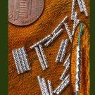 24 sterling silver fancy tube beads, 7 x1.5mm, twist