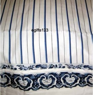 Ralph Lauren Porcelain Stripe Drapes Blue Custom Made new