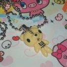 Kawaii Cabochon handmade necklace with free mini memos Yeallow bear # B4