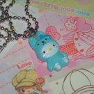 Kawaii Cabochon handmade necklace light blue hello kitty with free memos # B13