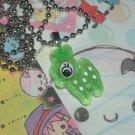 Kawaii cabochon handmade necklace green deer with free memos #B19
