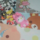 Kawaii cabochon handmade necklace pink hello kitty bunny with free memos # B24