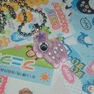 Kawaii cabochon handmade necklace purple deer plus free memos #B25