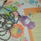 Kawaii cabochon handmade necklace purple hello kitty bunny with free memos #B28