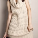 Knitted Turtle Neck Sleeveless Top / Dress: Audrey
