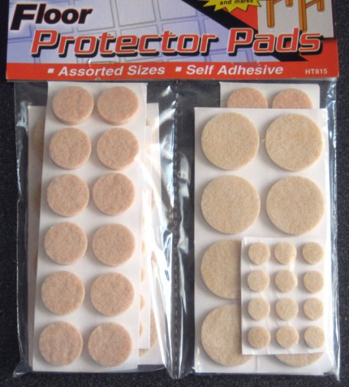 76 Felt Floor Protector Pads for Furniture, Tables & Chairs