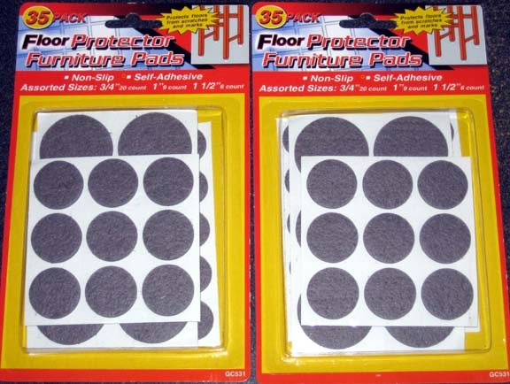 70 Felt Floor Protector Pads for Furniture, Tables & Chairs